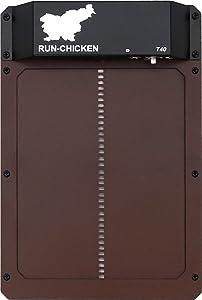 Run Chicken Model T40, Automatic Chicken Coop Door, Full Aluminum Doors, Light Sensing, Evening and Morning Delayed Opening Timer