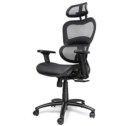 Incroyable Komene Ergonomic Mesh Office Chair, High Back Computer Task Chairs With  Adjustable Headrest Backrest,