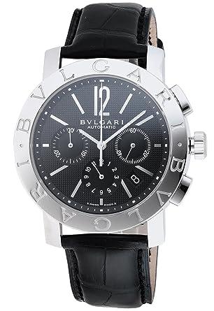 452e0d4e03a4 [ブルガリ]BVLGARI 腕時計 ブルガリブルガリ ブラック文字盤 アリゲーター革ベルト 自動巻 クロノ