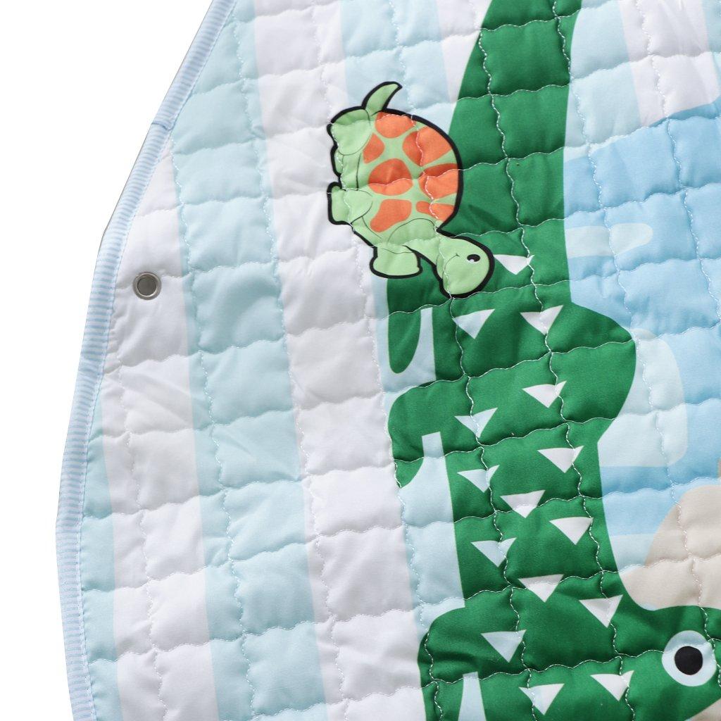Fenteer Kinder Aufr/äumsack Cartoon Spielmatte Spieldecke Spielzeug Speicher Kinderteppich Aufbewahrungsbeutel f/ür Kinderzimmer Zoo ca 60 Zoll // 150cm