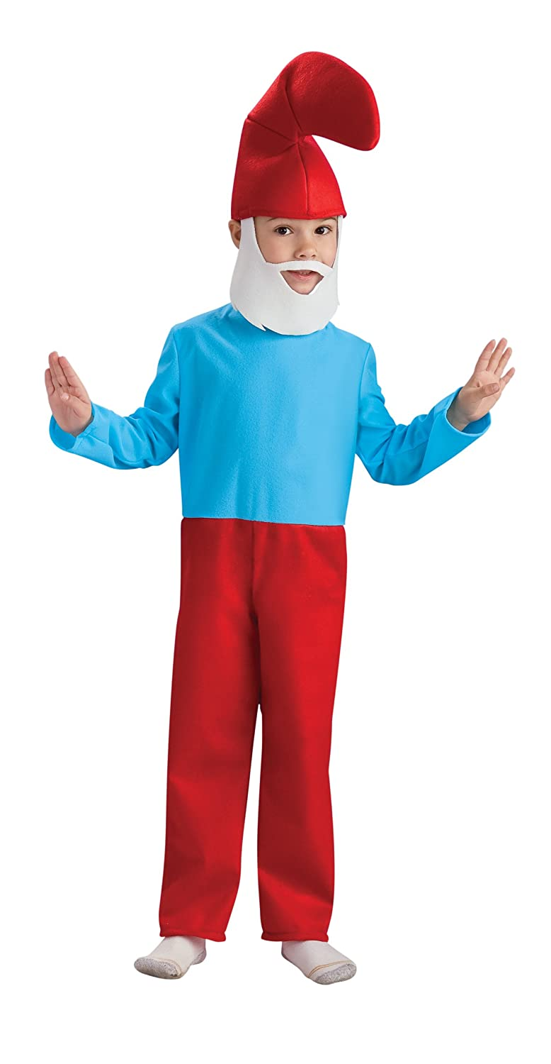 Amazon.com: The Smurfs Movie Child's Costume, Papa Smurf Costume ...