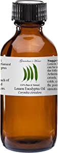Lemon Eucalyptus Essential Oil 2 oz 100% Pure and Natural Therapeutic Grade Grandma's Home