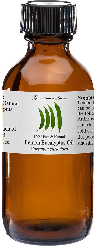 Lemon Eucalyptus Essential Oil 4 oz 100% Pure and Natural Therapeutic Grade Grandma's Home