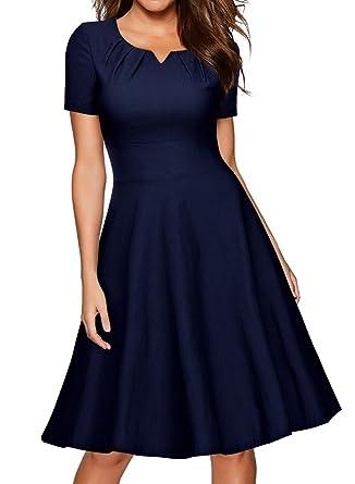 Kleider dunkelblau knielang