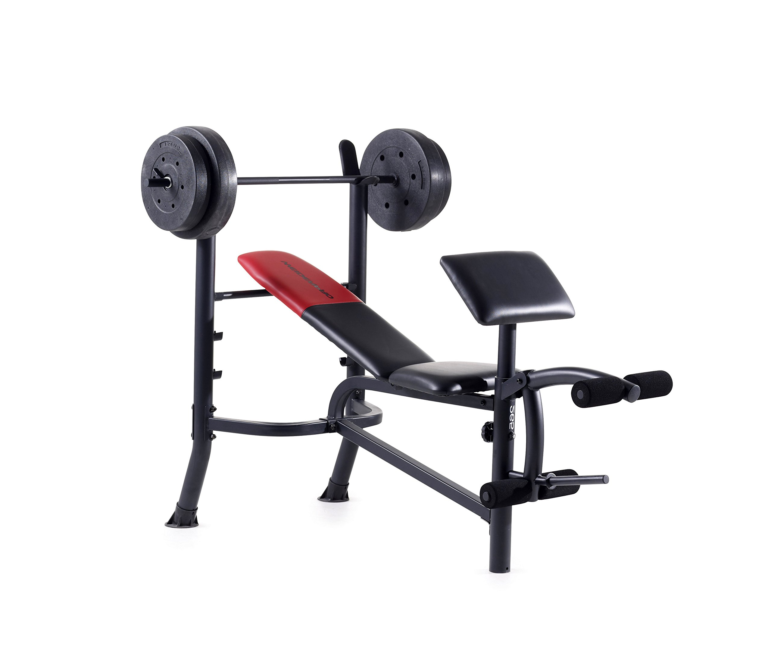 Weight Bench. Best Home Gym Sit Up Sport Workout, Fitness Equipment. For Building Muscle Strength, Endurance, Triceps, Biceps, Legs, Abs, Chest, Abdominal Exercises. Adjustable, Lightweight. by Weight - Bench