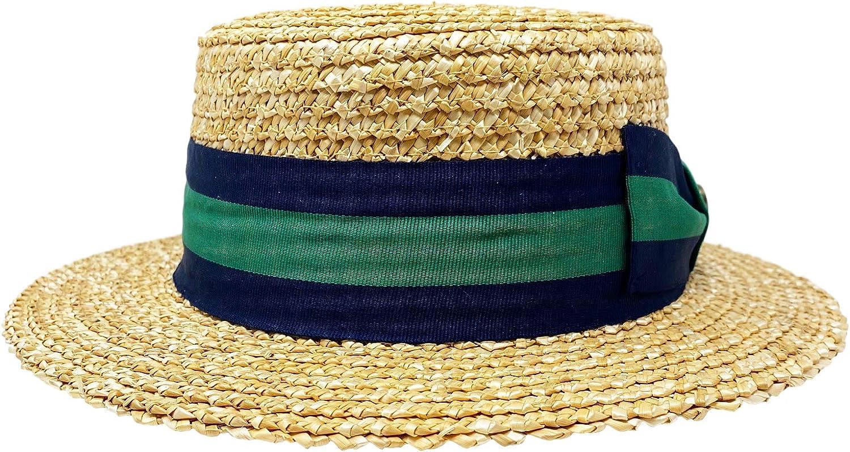 Bellmora Mens Classic Straw Braid Boater Hat