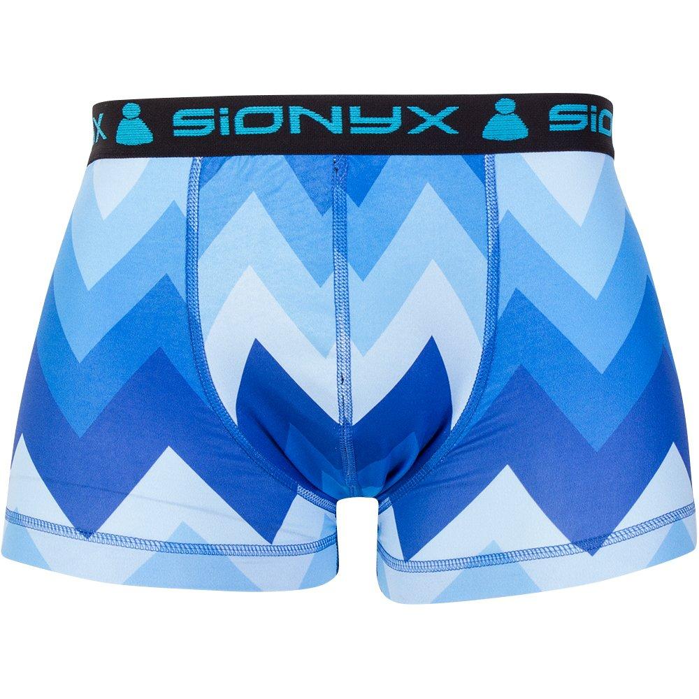 ZackForMe Short schwarz/blau Herren Sionyx Funktionsunterwäsche Thermowäsche für Sport und Freizeit Snowboard Skifahren Langlaufen Radfahren Short Unterhose