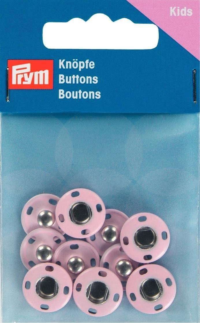 Prym Snap Fasteners Metal Pale Pink 14mm