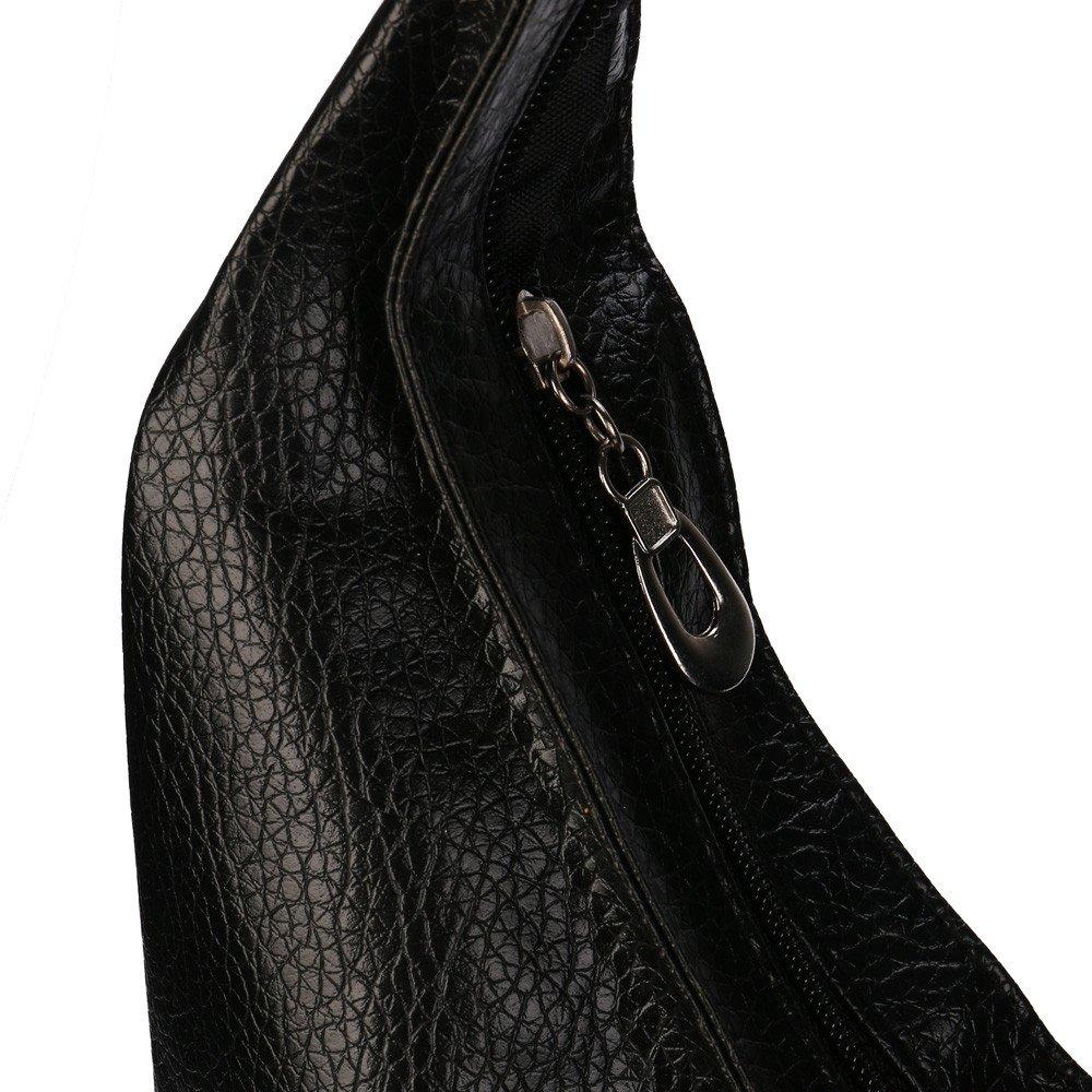 Bolsos de Cubo de Mujer Casual Bolsos de Hombro de Las Se/ñoras de Moda Bolso Bandolera Color S/ólido Bolsos Totes para Mujeres Chicas y Ni/ñas Bolsa de Mano Simple Negro