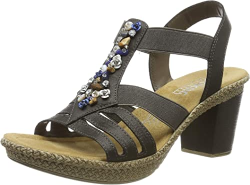   Rieker Womens Sandalette F 1   Sandals