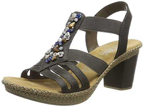 Rabatt-Sammlung Wählen Sie für späteste große Auswahl an Designs Rieker Damen 665g1-45 Geschlossene Sandalen
