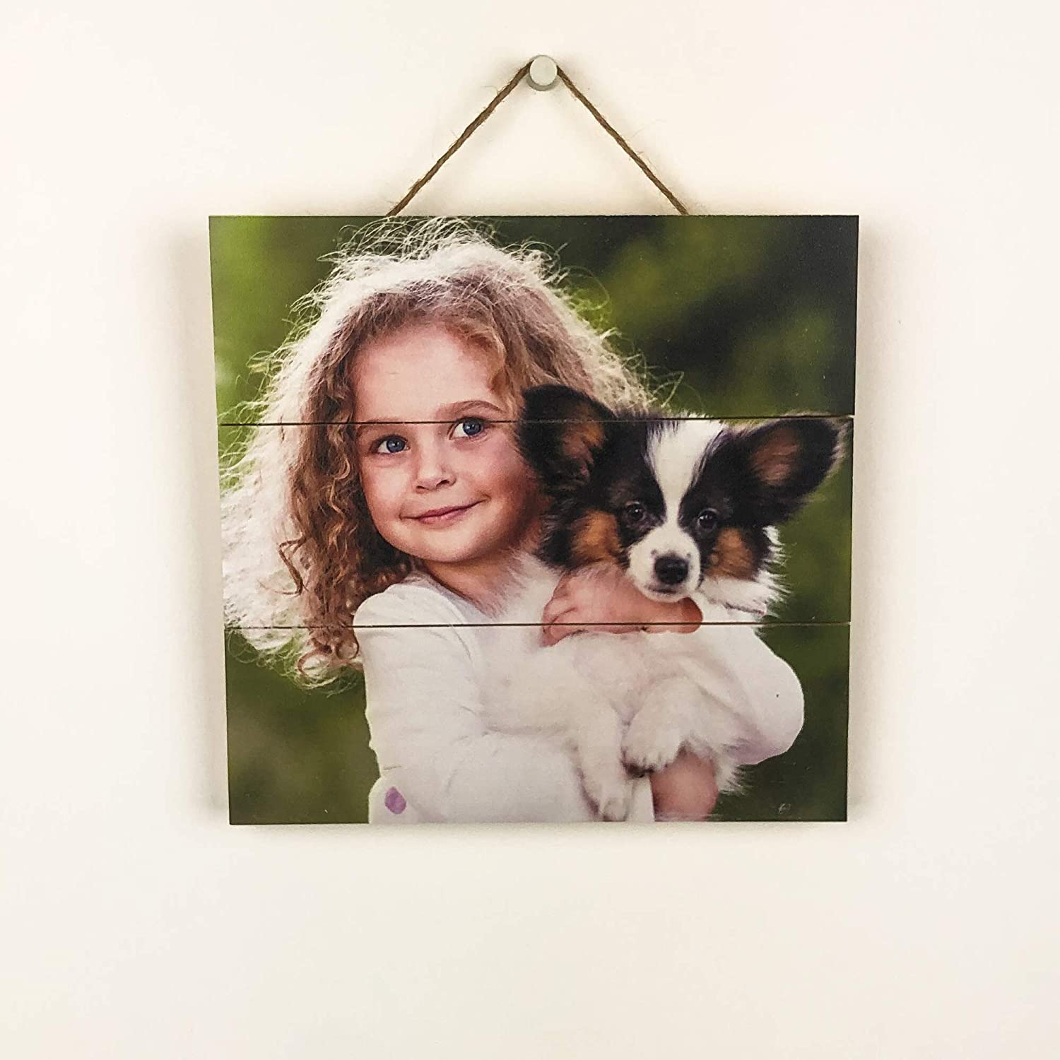 """Personalized Picture on Wood Pallet, Custom Photo Pallet, Photo on Wood 5th, Pallet Wall Art, Rustic Home Decor, Picture Frame, Customized Wood Print, Wood Photo - 6""""x6"""""""