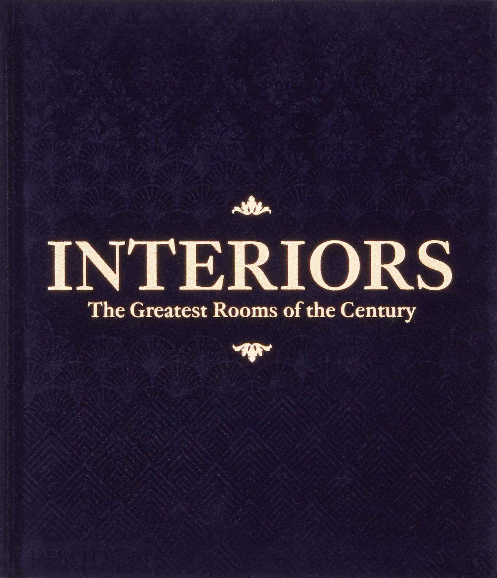 Interiors  -  The Greatest Rooms of the Century (Velvet Cover Color is Midnight Blue, 1 of 4 available colors - see below for more detail) by Phaidon Press