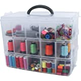 Bins & Things Storage Container with 30 Adjustable Compartments for Storing & Organizing Sewing Embroidery Accessories…