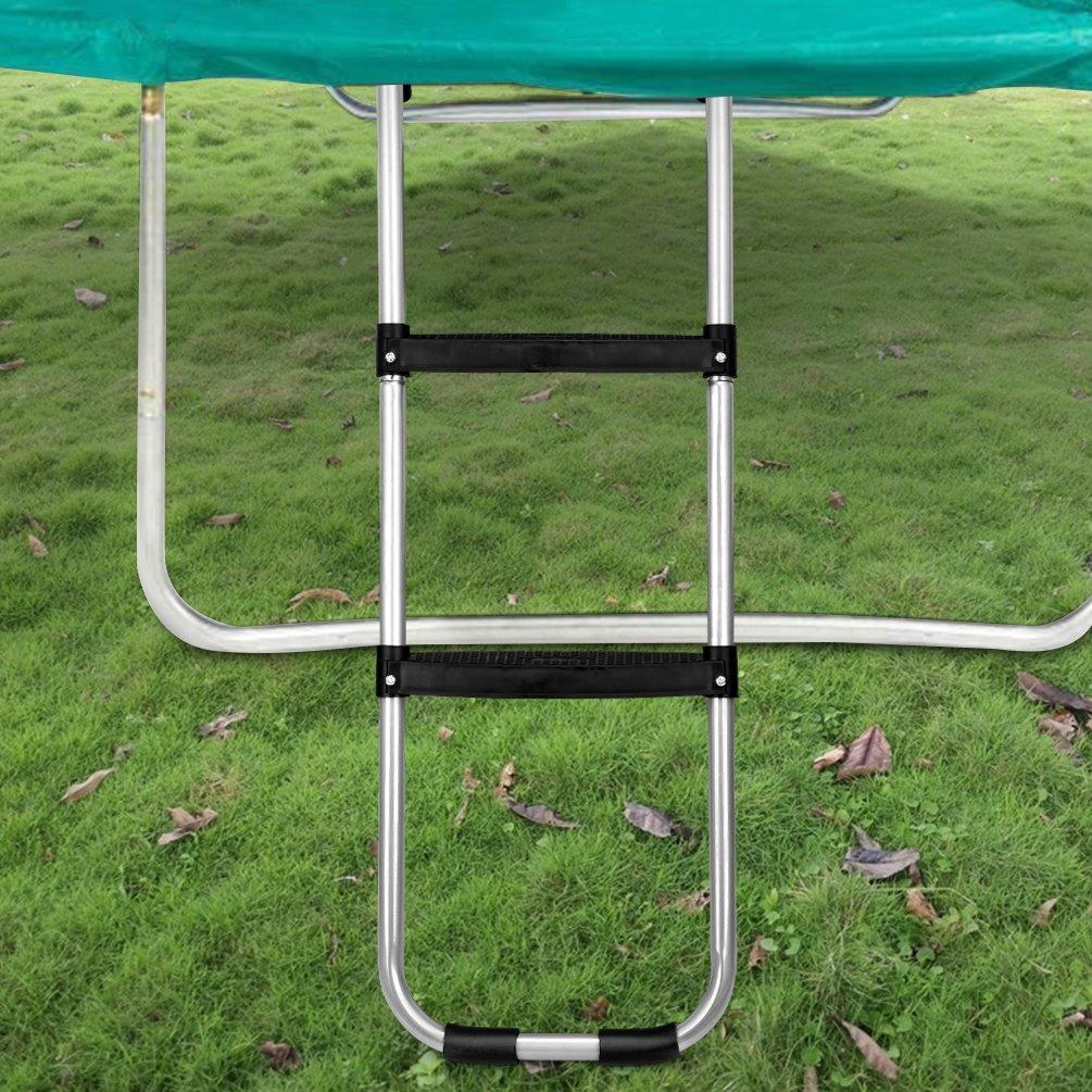 Gardenature Trampoline Ladder-2 Steps Wide-Step Ladder