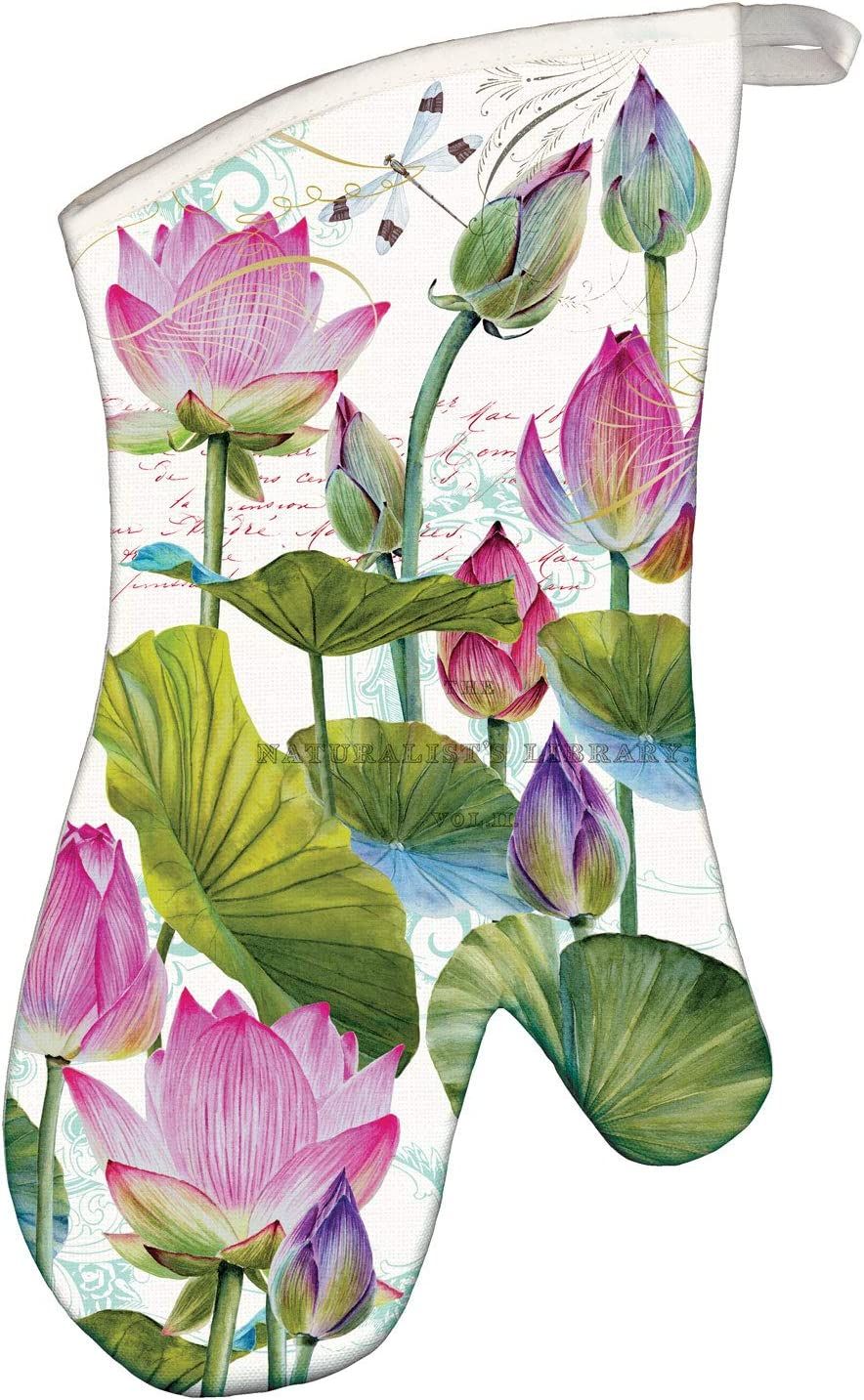 Michel Design Works Oven Mitt, Water Lilies