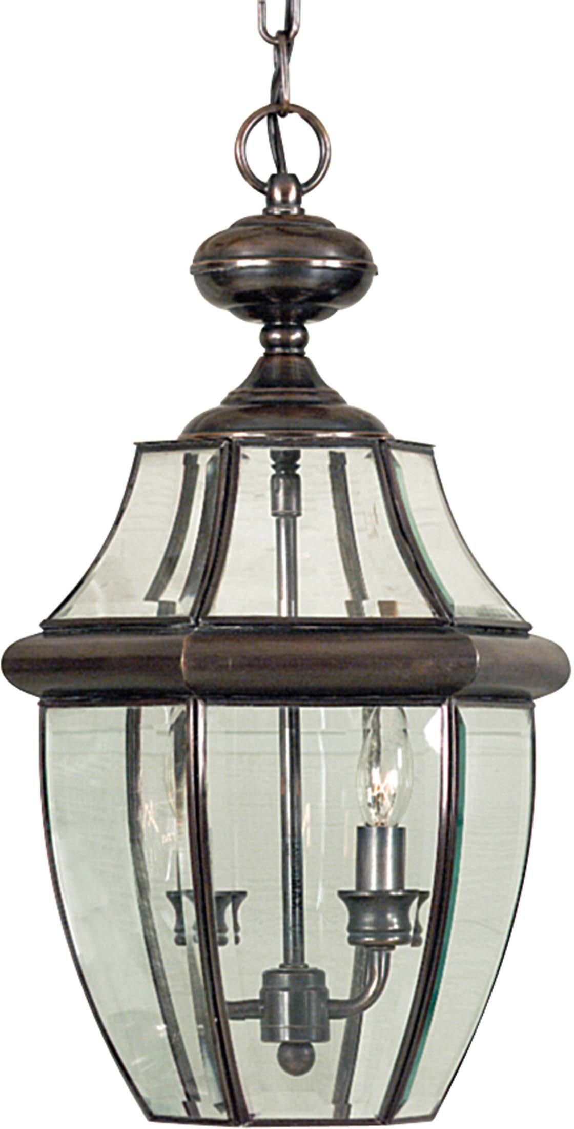 Quoizel NY1178AC 2-Light Newbury Outdoor Lantern in Aged Copper