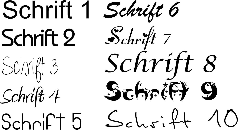 Brotdose Edelstahl Kindergarten Schriftarten