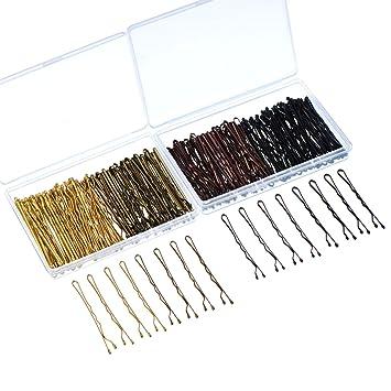 200 Stücke Bobby Pins 4 Farben Haarnadeln Haarspangen Mit Clear