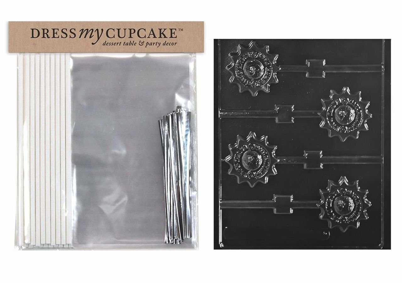 Dress My Cupcake DMCKITM232 Chocolate Candy Lollipop Packaging Kit with Mold, Make Everyday Earth Day Lollipop by Dress My Cupcake