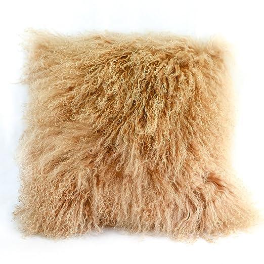 hzx 100% Real Mongolia lana de oveja cojín y almohada ...