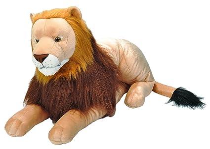 Amazon Com Wild Republic Jumbo Lion Plush Giant Stuffed Animal