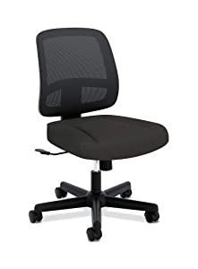HON ValuTask Task Chair, Mesh Back Computer Chair for Office Desk, Black (HVL205)