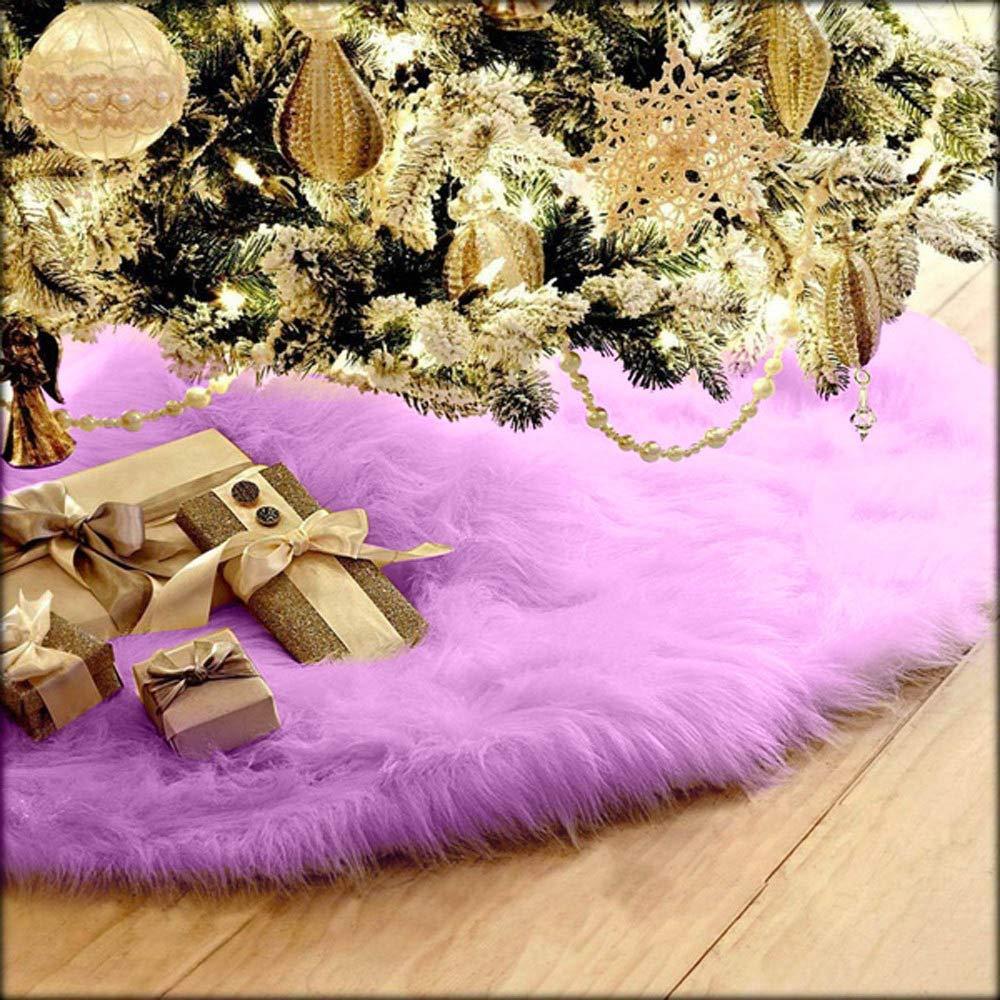 おすすめネット Coohole 30.7インチ/ クリスマス 78cm クリスマス フラシ天 ロングヘアー 30.7インチ クリスマスツリースカート クリスマスツリースカート装飾/ B07JQ1SQRH パープル, 大きいサイズの専門店グランバック:72646898 --- beyonddefeat.com