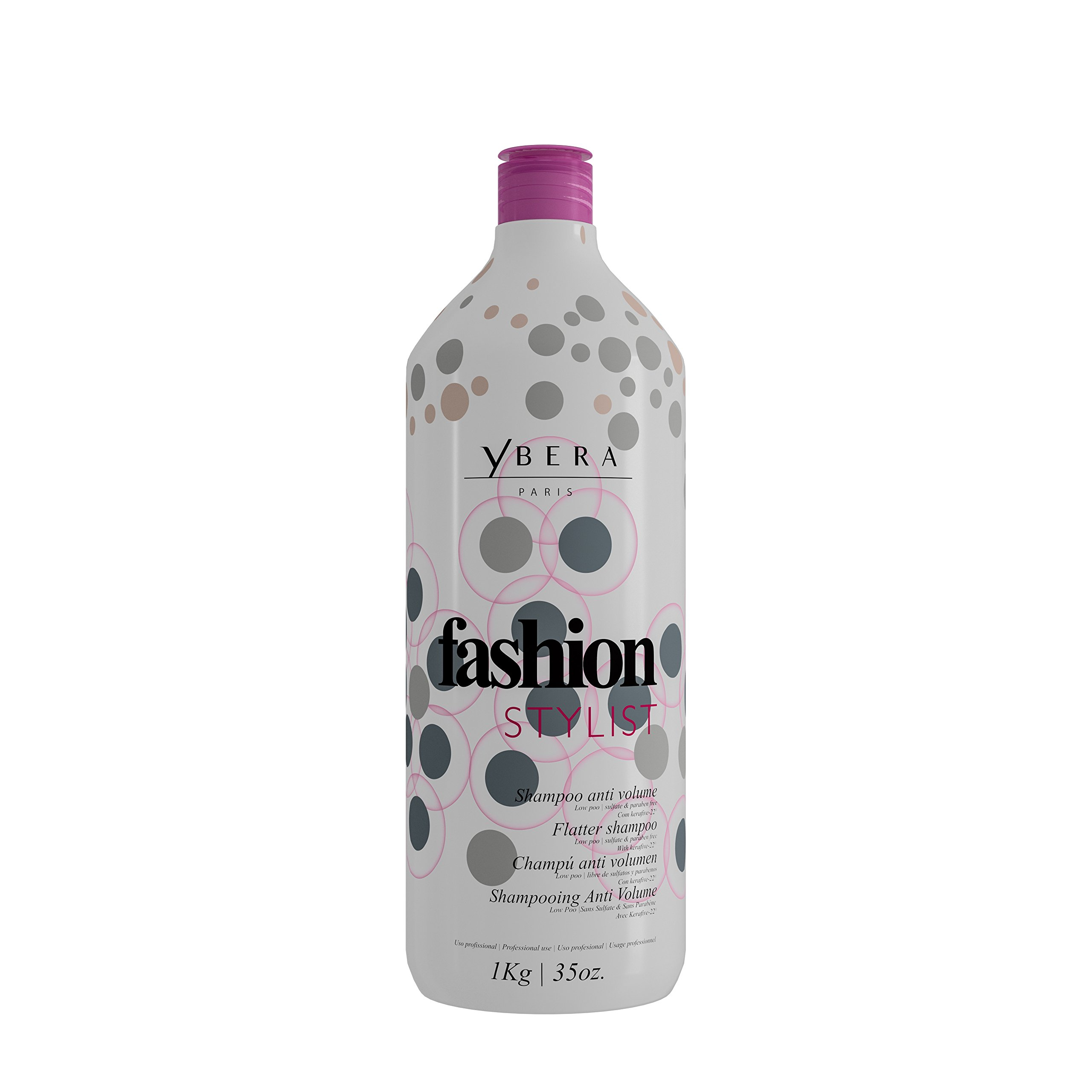 Keratin Ybera Fashion Stylist Shampoo Smooth and Extreme Shining Hair Enhanced with Omega 3, 6 and 9