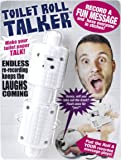 Talking Toilet Paper Spindle - Funny Bathroom Gag Gifts - Makes Your Toilet Paper Talk - Record up to 10 secs of Audio - Fun White Elephant Gifts - Hilarious Prank - Recordable Toilet Roll Talker