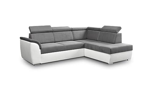 Ecksofa mit schlaffunktion und bettkasten  Ecksofa Sofa Eckcouch Couch mit Schlaffunktion und Bettkasten ...