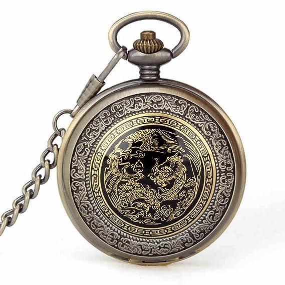 Shining Reloj para hombre Dragon & Phoenix cuarzo llavero ...