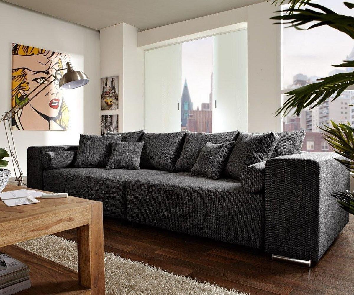 Couch Marbeya Schwarz 290x110 Cm Mit Schlaffunktion Big Sofa Günstig