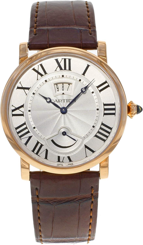 Cartier Rotonde de Cartier reloj para hombre con esfera plateada de 18 quilates y oro rosa W1556252
