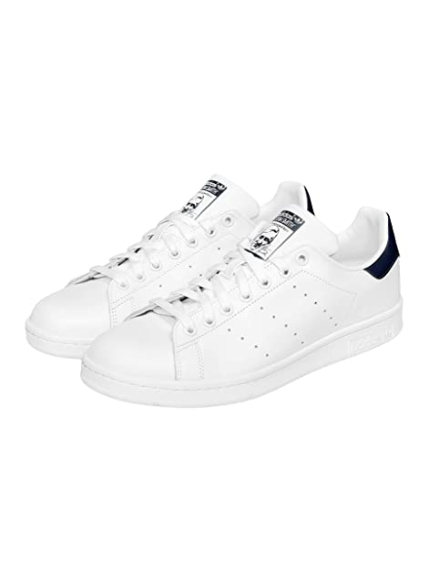 wholesale dealer 72b2c 4b2d7 adidas Originals Stan Smith Sneakers Uomini Bianco Blu - 48 2 3 - Sneakers  Basse  Amazon.it  Scarpe e borse