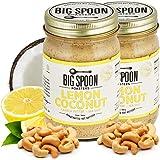 Big Spoon Roasters Lemon Cashew Butter with Sea Salt - Keto Friendly - Low Sugar - Natural Ingredients - Vegan Gourmet Nut Bu
