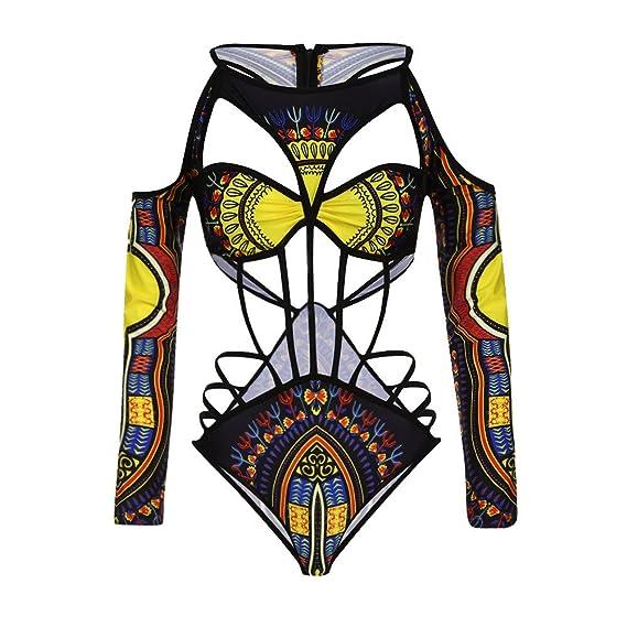Pinklu Bikini éTnico Vintage Estampado Africano para Mujer ...
