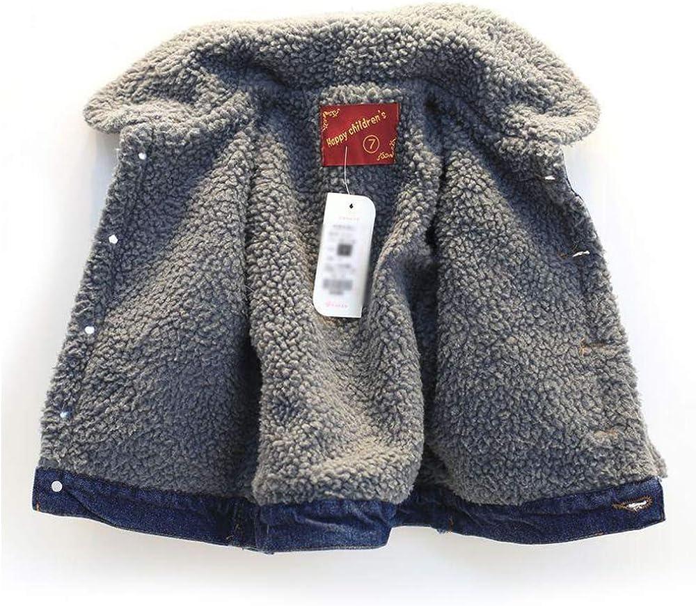 My Sky Little Boys Girls Thick Denim Jacket Coat Outwear Fleece Lined Jacket Coat