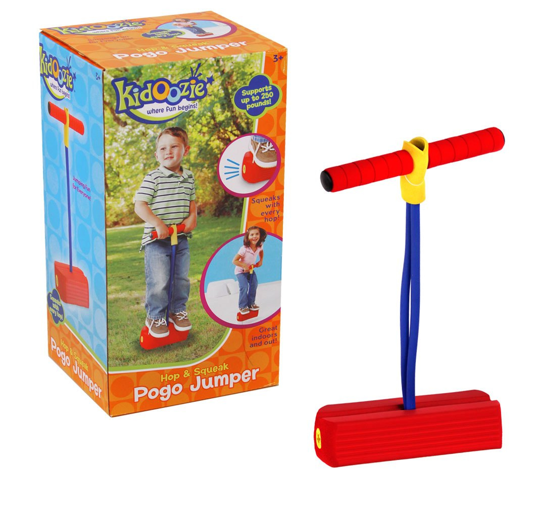 Kidoozie Foam Pogo Jumper – Fun and Safe Play – Encourages an Active Lifestyle – Makes Squeaky Sounds 250 Pound Capacity