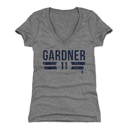 Brett Gardner Women s V-Neck Shirt Small Tri Gray - New York Baseball  Women s Apparel 39b663940c3