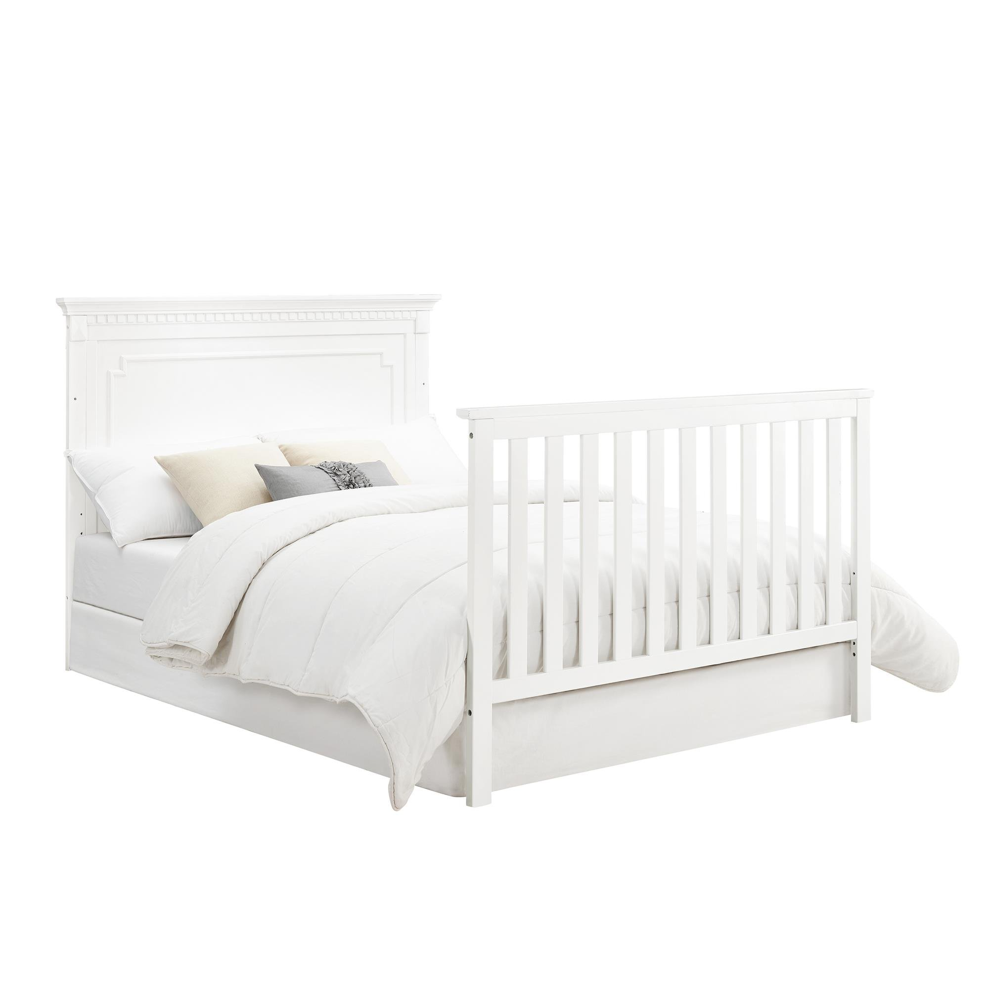 Full Size Conversion Kit Bed Rails for Baby Relax Edgemont, Miles & Rivers Cribs by Dorel Living - White by CC KITS (Image #2)