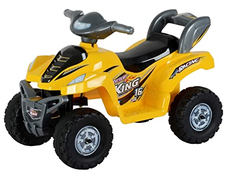 Toy House Desert King Small ATV Bike 6V Rechargeable Battery Operated Ride On for kids( 2to 4),Yellow Balance Bikes at amazon
