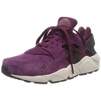 Nike Air Huarache Run PRM, Men's Gymnastics Shoes (10.5 M US, Bordeaux/Black/Lite Bone) | Road Running