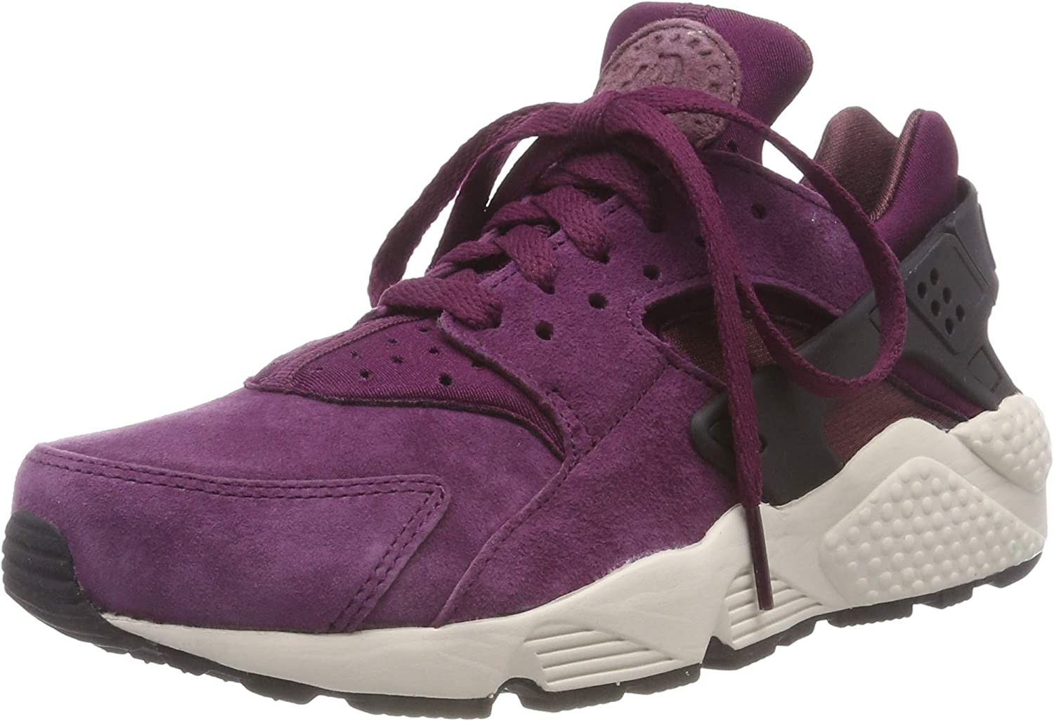 Nike Air Huarache Run PRM, Men s Gymnastics Shoes 9 M US, Bordeaux Black Lite Bone