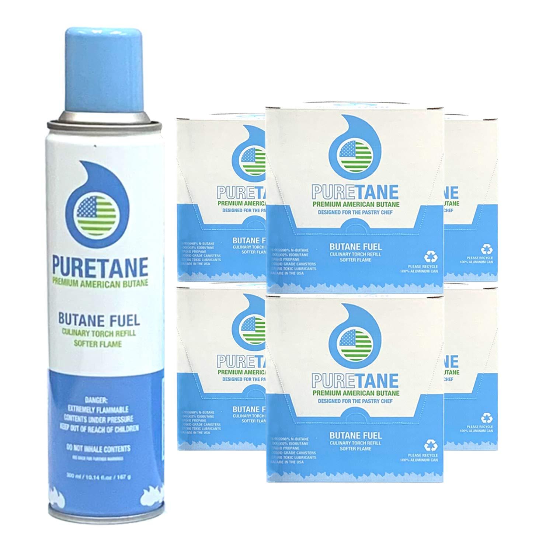 Puretane N-Butane Food-grade Refined 11X Filtered Butane Gas - 72 Cans by Puretane