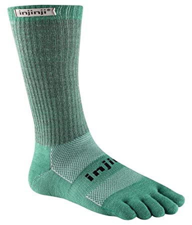 Image result for Injinji 2.0 Outdoor Midweight Crew Nuwool Socks