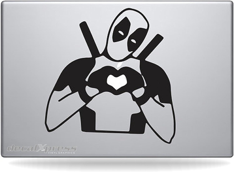 Deadpool Heart - Sticker Decal MacBook, Air, Pro All Models