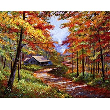 Amazon Com Paint By Number Kit Diy Oil Painting Drawing Wild