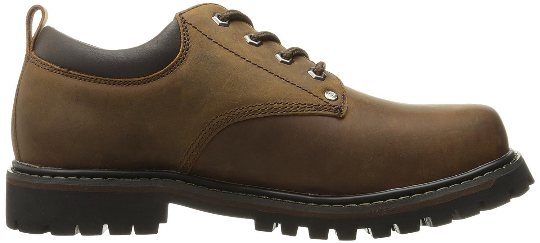 Skechers 6618 - Zapatos Planos con Cordones de Cuero Hombre, Color Marrón, Talla 42.5 EU: Amazon.es: Zapatos y complementos