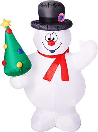 Amazon.com: Gemmy Airblown Navidad interior / exterior ...